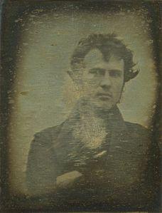 Robert Cornelius, auto-portrait, 1839